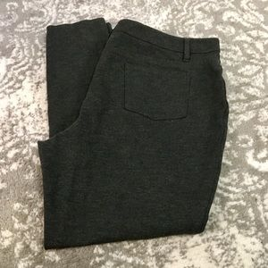 Dark gray stretch ankle leggings size 1X